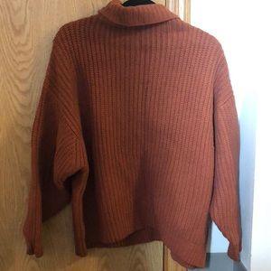 Free people cowl/turtleneck oversized sweater